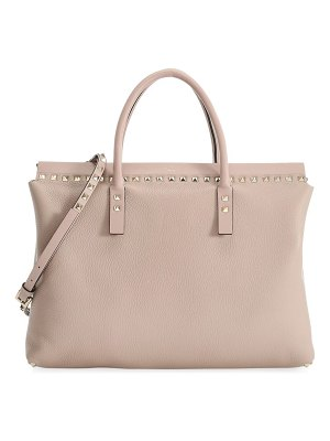 Valentino garavani medium rockstud leather top handle bag