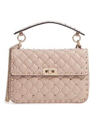 Valentino medium rockstud matelasse quilted leather crossbody bag