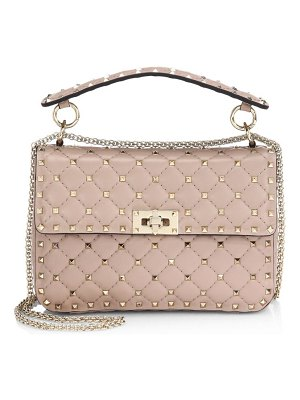 Valentino medium rockstud quilted top handle bag