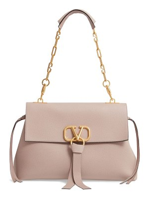 Valentino medium vee ring leather shoulder bag