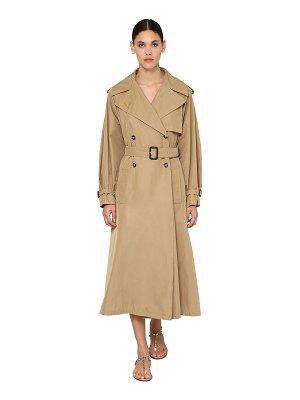 Valentino Metal v logo tech gabardine trench coat