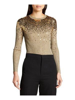 Valentino Metallic Sweater with Scattered Sequins
