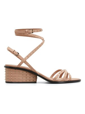 Valentino Micro-Studded Leather Ankle-Wrap Sandals