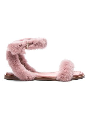 Valentino Mink Fur Sandals