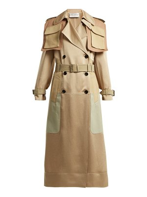 Valentino Multi-pocket satin trench coat