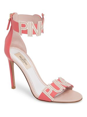 Valentino pink is punk ankle strap sandal