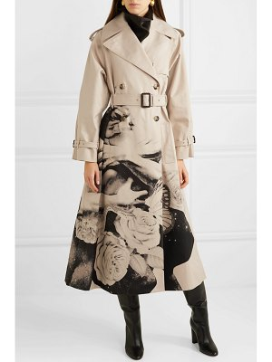Valentino printed cotton-gabardine trench coat