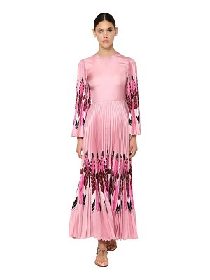Valentino Printed silk twill long dress