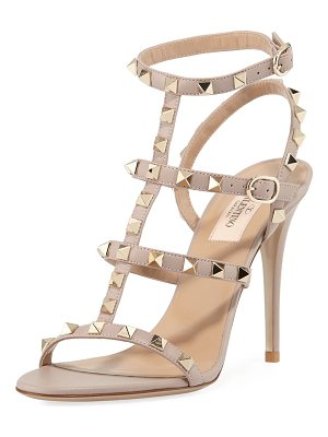 VALENTINO Rockstud 105mm Caged Leather Sandal