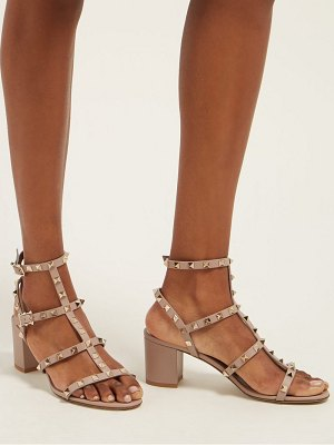 Valentino rockstud block heel leather sandals