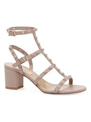 Valentino rockstud tonal leather cage sandals