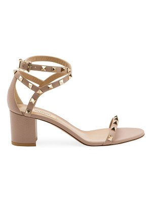 Valentino garavani rockstud block-heel leather sandals