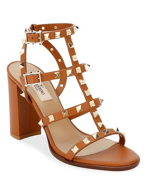 Valentino Rockstud Caged Leather 90mm City Sandals