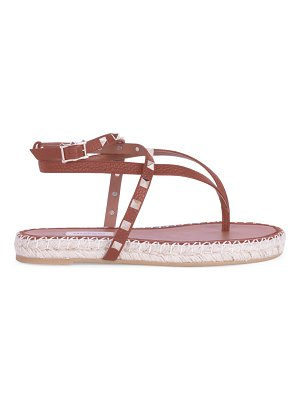 Valentino rockstud double thong espadrille sandals