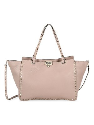 Valentino rockstud grain leather tote bag
