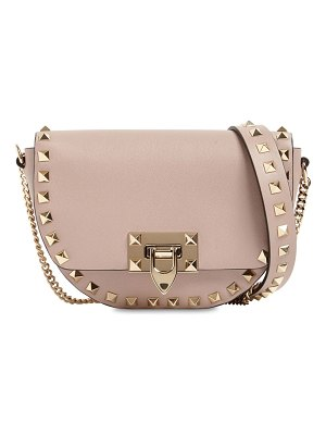 Valentino Rockstud grained leather shoulder bag