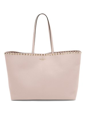 Valentino rockstud grained leather tote bag