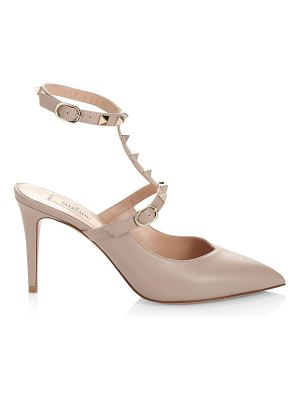 Valentino rockstud hype t-strap leather pumps