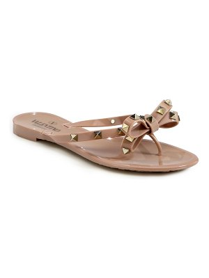 Valentino garavani rockstud bow jelly thong sandals