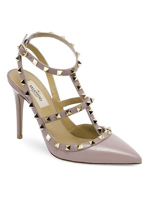 Valentino rockstud leather sling sandals