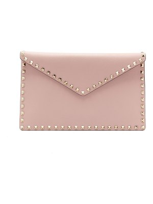 Valentino rockstud leather envelope clutch