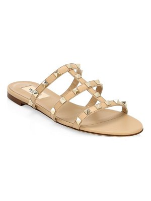 Valentino rockstud leather flat sandals