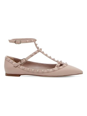 Valentino Rockstud embellished leather flats