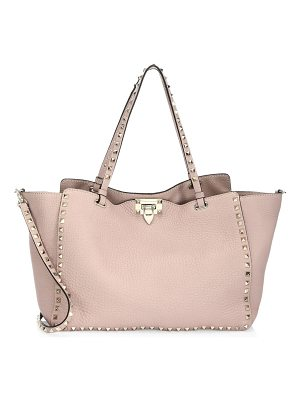 VALENTINO Rockstud Leather Medium Tote