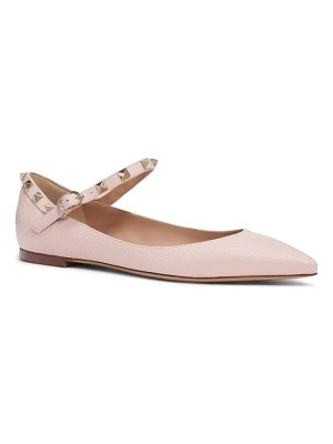 Valentino rockstud mary jane pointed toe flat
