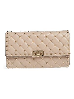 Valentino rockstud matelasse quilted leather crossbody bag