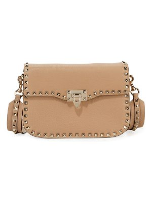 Valentino Rockstud Medium Leather Saddle Shoulder Bag