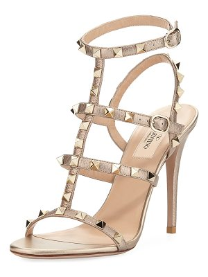 VALENTINO Rockstud Metallic Leather 105mm Sandal