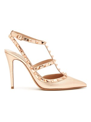 Valentino Rockstud metallic-leather pumps