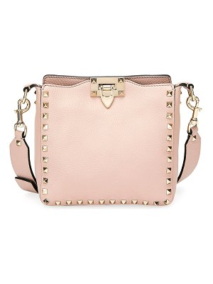 Valentino Rockstud Mini Vitello Stampa Leather Hobo Bag