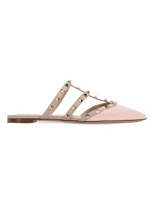Valentino Rockstud patent leather mules