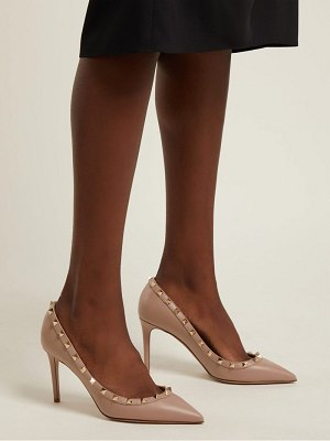 Valentino Rockstud point-toe leather pumps