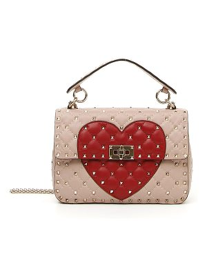 Valentino Rockstud Quilted Heart Shoulder Bag