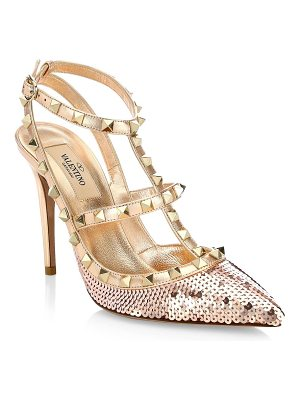 Valentino rockstud sequin pumps