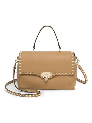 Valentino rockstud slouchy leather top handle satchel