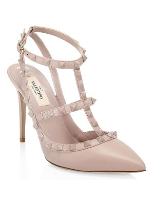 Valentino rockstud tonal leather slingback sandals