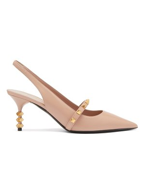 Valentino rockstud tower hill leather slingback pumps