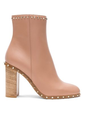 Valentino Rockstud Trim Leather Booties