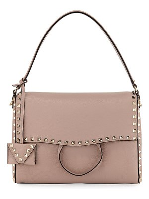 Valentino Rockstud Vitello Leather Top-Handle Bag