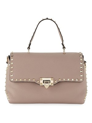 Valentino Rockstud Vitello Stampa Shoulder Bag
