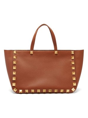 Valentino roman stud grained-leather tote bag