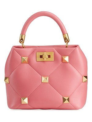 Valentino Roman Stud Small Quilted Top-Handle Bag