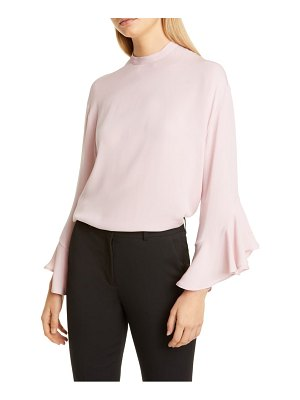 Valentino ruffle sleeve silk georgette blouse