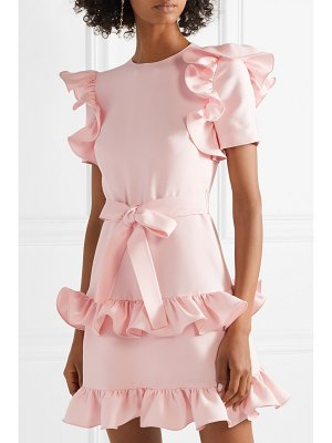 Valentino ruffled wool and silk-blend crepe mini dress