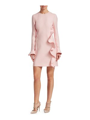 Valentino ruffled wool & silk sheath dress