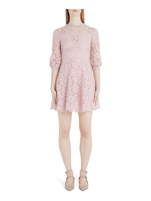 Valentino scalloped lace a-line minidress